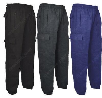 J1 Mens Cargo Combat Jogging Bottoms Trousers Elasticated Tracksuit Joggers Gym