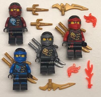 4 Lego Ninjago Minifigs Lot: figures Lloyd Cole Jay Kai Zane Nya Skybound