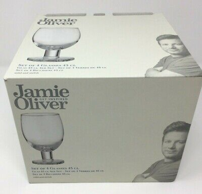 Jamie Oliver Everyday Wine Glasses 45cl or 450 ml (Set of 4) Boxed - Brand New