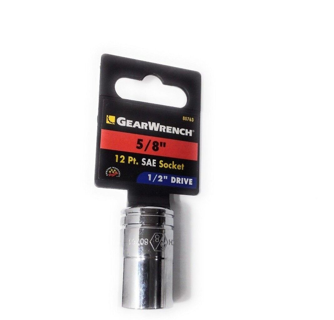 "Gearwrench 1/2"" Drive 5/8"" 12 Pt. SAE Socket 80763"