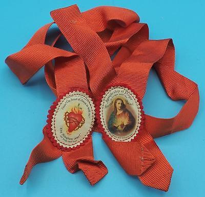 Vintage Religious Apostleship Badges on Ribbon
