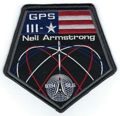 FALCON 9 5 SLS GPS III-5 SPACE MISSION PATCH NEIL ARMSTRONG CAPE LAUNCH TEAM