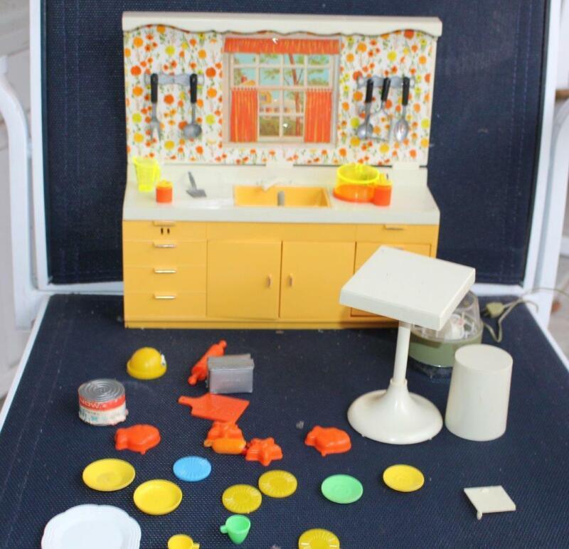 Vintage Ideal Toy Kitchen in Box Partial Set Mini-Matic Hostess Center