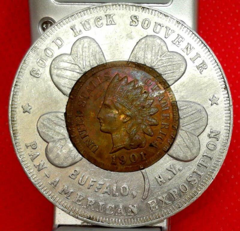 1901 INDIAN HEAD BU/UNC PAN AMERICAN EXPO LUCKY PENNY WORLD
