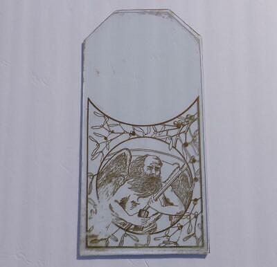 Antique Kitchen Parlor Gold Painted Glass Shelf Mantle Clock Waterbury Gilbert
