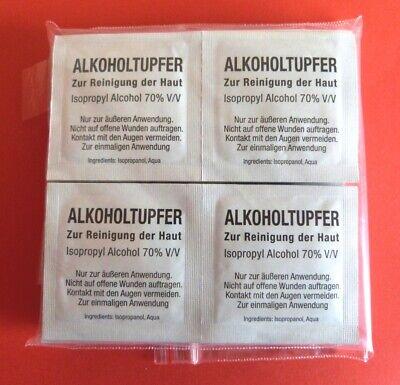 200 Alkoholtupfer für Desinfektion I Alkoholpads I Desinfizieren I Haureinigung