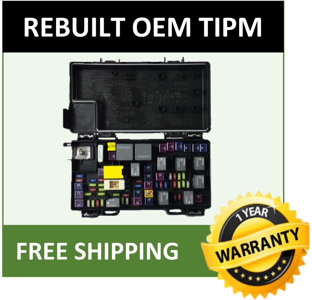 2014 JEEP Wrangler 3.6L-V6-Fuse Box Integrated Power Module TIPM 68217404