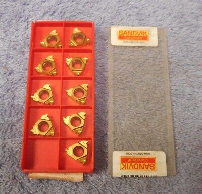 Sandvik  Carbide Inserts  R166.0g-16un01-110 Grade 1020  Pack Of 9