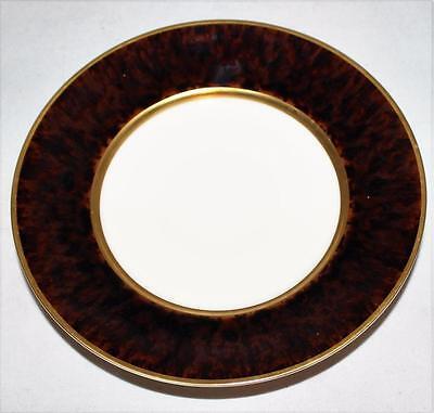 Jaune De Chrome, Tortoise Tortue, Brown/Black & Gold Trim, Bread Plate, NWT