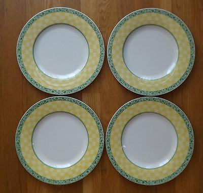 4 Villeroy & Boch Switch Summertime Dinner Plates Acacia Germany 10 5/8""