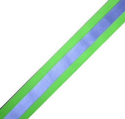Silver Lime Reflective Tape Sew On Material 1 Yardx2