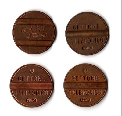 10 x Gettone Telefonico vintage Italian Telephone Tokens in use 1959-2001