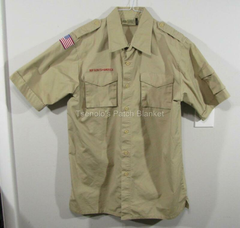 Boy Scout now Scouts BSA Uniform Shirt Size Adult Medium SS FREE SHIPPING 052