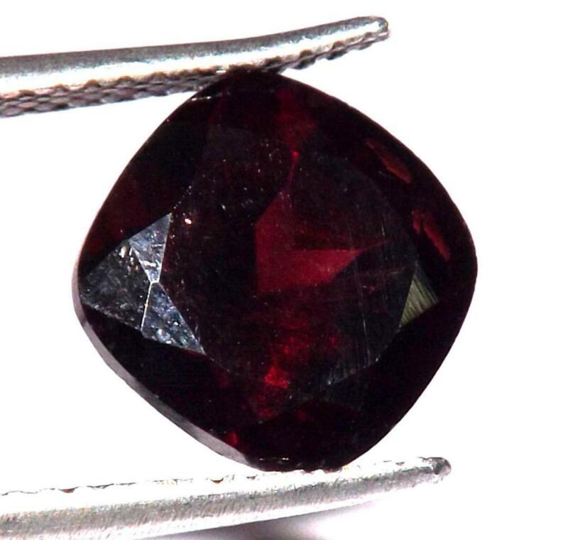 2.90 Cts Mozambique Red Garnet 9 X 9 mm 100% Natural Gemstone#brg463