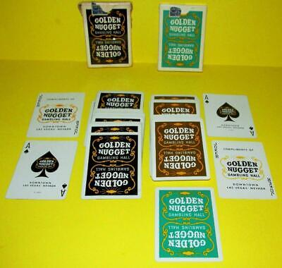 VINTAGE LAS VEGAS GOLDEN NUGGET GAMBLING HALL LOT OF 2 DECKS OF PLAYING CARDS