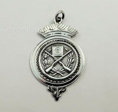 Vintage Solid Silver Pocket Watch Albert Chain Shooting Fob Medal SCAMRC 1951