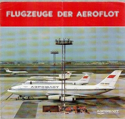 FLUGZEUGE DER AEROFLOT BROCHURE 1987 IL86 IL62 TU154 TU134 YAK42 AN28 IL76