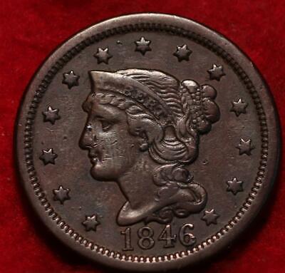 1846 Philadelphia Mint Copper Braided Hair Large Cent