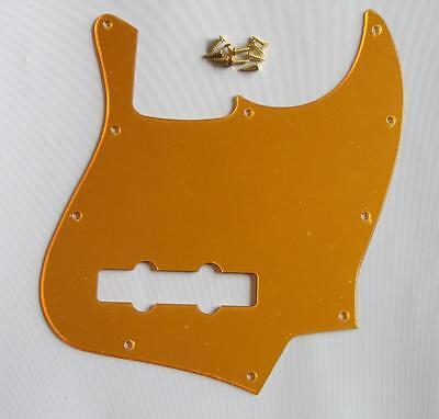 USA Size Jazz J Bass Pickguard Scrach Plate Gold Mirror