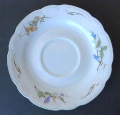 EUC WHITE PORCELAIN SCALLOPED FLORAL LARGE SAUCER BY KAHLA, GERMANY 6 7/8 INCHES
