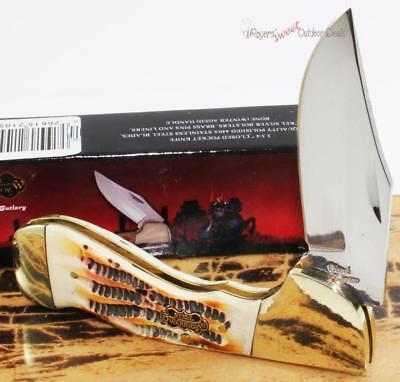 6 5  Frost Cutlery Steel Warrior Choctaw White Bone Folding Pocket Knife