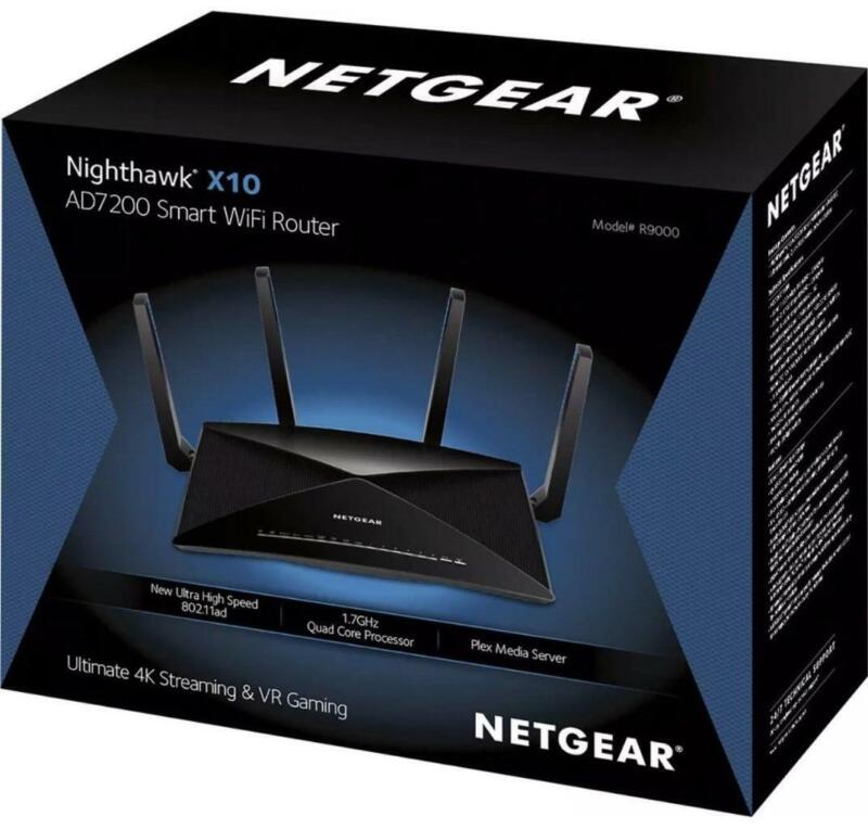 NETGEAR Nighthawk X10 AD7200 802.11ac/ad Quad-Stream WiFi Router (R9000)