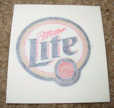MILLER LITE Foil Logo pilsner STICKER decal craft beer brewery brewing