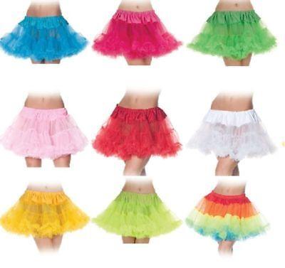 Ballerina Adult Costume (Tutu Skirt Ballerina Adult Womens Costume Crinoline 80's Rave Disco Neon)