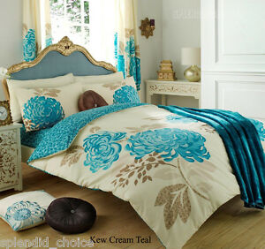 LUXURY DUVET COVER WITH PILLOW CASE QUILT COVER BEDDING SET ALL SIZES