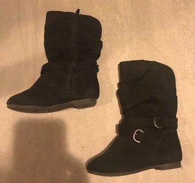SmartFit Girls (Youth) Black Western Cowboy Boots Size 8 1/2 Smart Fit