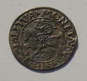 1561 Poland Lithuania Silver 1/2 Groschen 1.13grams, 20mm, Scarce Hammered Coin