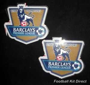 Official Manchester United Champions 07/08 Lextra Football Shirt Patch/Badge EPL