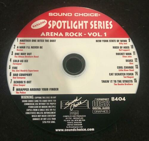 SOUND CHOICE KARAOKE SPOTLIGHT SERIES CD+G - 8404- Arena Rock - Vol 1