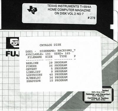 VTG 1985 HOME COMPUTER MAGAZINE VOL 2 NO 7 PROGRAMS ON DISK TI-99/4A   #278