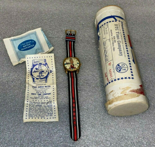 SPIRO AGNEW CHARACTER WATCH  **  BRAND NEW  **  MAILING TUBE, PAPERS & WATCH  **