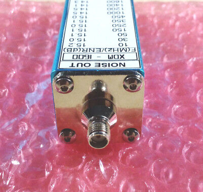 Noise Source Generator Calibrated 10 -1600 Mhz 15 Db Enr Sma Noise Figure