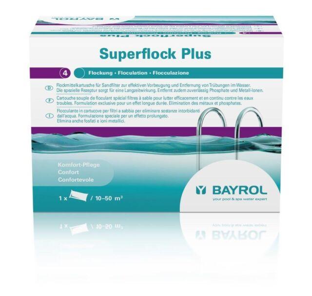 BAYROL Superflock Plus 1 kg (8Kartuschen) Flockungsmittel für klares Poolwasser