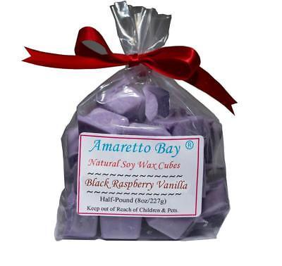 Vanilla Wax - Black Raspberry Vanilla Scented Soy Wax Melts - Half-Pound - Wax Chunks- 200 Hrs
