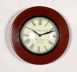 Vintage Home Decor Antique Look Brass Engraving Work Wall Clock Ethnic India 223