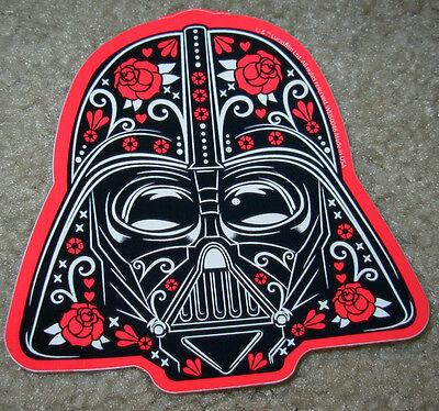 """STAR WARS DARTH VADER MUERTO Art Sticker Print 4 X 3.75"""" DIA DE LOS Helmet"""