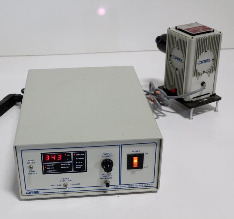 Oriel 68840 Deuterium Lamp Power Supply, 60023 Q-Series Lamp, 60006 Condenser