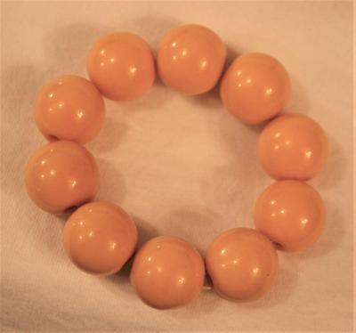 FUN! Shiny Large Yellow Beads Stretch Adjustable Bangle Bracelet
