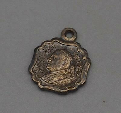 Vintage Religious Medallion Pendant Pope Joannes XXII mv