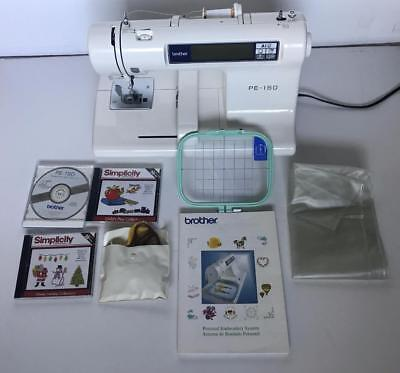 Brother PE-150 Home Embroidery Machine Plus Memory Cards Holiday