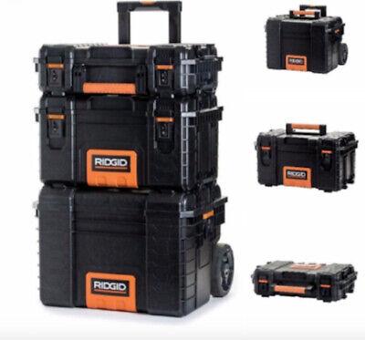 Portable Garage Rolling Tool Box Chest Workshop Cart Storage Bin Organizer 3 Pcs