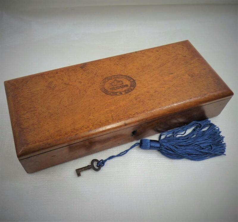 WATERCOLOUR ARTISTS PAINT BOX c1870 ANTIQUE SCIENCE AWARD + KEY