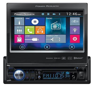"""NEW Power Acoustik PD-724HB 1 DIN FLIP UP OUT CD/DVD Player 7"""" Bluetooth Android"""