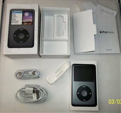Apple iPod classic 160GB Black  7th Generation A1238 In Box W/ Accessories VG
