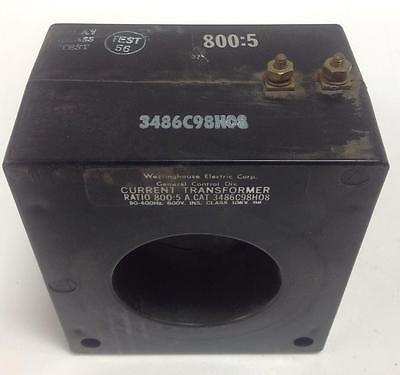Westinghouse 50-400hz 600v Current Transformer 3486c98h08