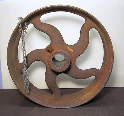 Vintage Industrial Deep Cast Iron Wheel